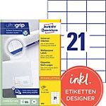 Avery Zweckform Universal Etiketten 3652 200 Weiss 70 x 42.3 mm 100 Blatt