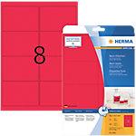 HERMA Etiketten  Neon Rot 99.1 x 67.7 mm 160 Blatt