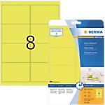 HERMA Etiketten  Neon Gelb 99.1 x 67.7 mm 160 Blatt