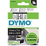Dymo Schriftband 9 mm x 7 m Schwarz auf Weiss