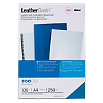 GBC Einbanddeckel Karton LeatherGrain™ A4 Blau 100 Stück