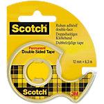 Scotch Handabroller 665H1263 Transparent gefüllt mit 1 Rolle doppelseitigem Klebeband 665 12 mm x 6 m