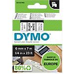 DYMO Schriftband 6 mm x 7 m Schwarz auf Weiss