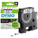 DYMO Schriftband D1 45013 12 mm x 7 m Schwarz, Weiss