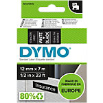 DYMO Schriftband Polyester 45021 12 mm x 7 m Weiss, Schwarz