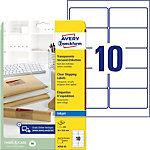 AVERY Zweckform Adressetiketten QuickPEEL™ Transparent 250 Stück Pack 25