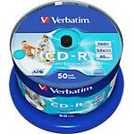 Verbatim CD Rohling 43438 700 MB 50 Stück