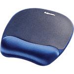 Fellowes Mauspad mit Handgelenkauflage Memory Foam Blau