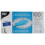 PAPSTAR Einweghandschuhe Latex L ungepudert Blau 100 Stück