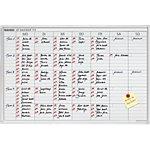 Franken Wochen Jetkalender JK 715 Weiß, Silber eloxiert 90 x 60 cm