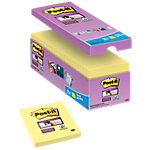 Post it Haftnotizen Super Sticky Gelb Blanko 76 x 76 mm 16 x 90 Blatt