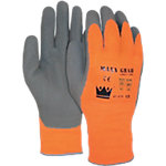 Handschuhe Maxx Latex L Orange, Grau 2 Stück