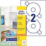AVERY Zweckform CD Etiketten L6015 25 Weiss 50 Stück Pack 25