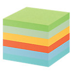 Post it Recycling Haftnotizen Mini Tower Mehrfarbig Pastell 76 x 76 mm 80 g