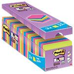 Post it Haftnotizen Super Sticky 654SE24P Assortiert Blanko 76 x 76 mm 21 + 3 gratis Pack 24