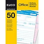 ELCO Quittungsblock A6 2 x 50 Blatt