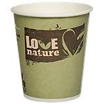 PAPSTAR Pappbecher Pure Love Nature 0.20 l Farbig sortiert 50 Stück
