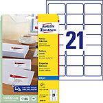 Avery Zweckform Adressetiketten QuickDry™ Weiss 63.5 x 38.1 mm 25 Blatt