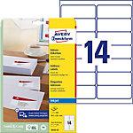 Avery Zweckform Adressetiketten QuickDry™ Weiss 99.1 x 38.1 mm 25 Blatt