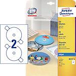Avery CD Etiketten Weiss 50 Stück Pack 25