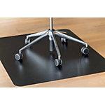 clear style` ?Bürostuhlunterlage Rechteckig hart Schwarz 150 x 120 cm