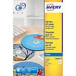 Avery CD Etiketten C9660 25 Weiss 50 Stück Pack 25