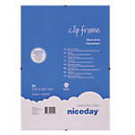 Niceday Clip Bilderrahmen A4 Transparent 21 x 29.7 cm