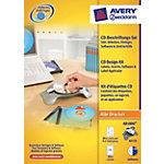 AVERY Zweckform CD Designsystem für Inkjetdrucker  Weiss 24 Stück Set