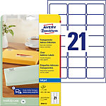 AVERY Zweckform Adressetiketten QuickPEEL™ Transparent 525 Stück Pack 25