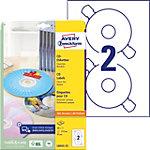 AVERY Zweckform CD Etiketten L6043 25 Weiss 50 Stück Pack 25