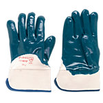 Handschuhe Nitril Einheitsgrösse mit Stulpe Blau 2 Stück