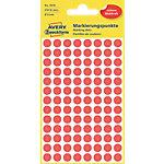Avery Zweckform Markierungspunkte 3010 Rot Ø 8.0 mm 4 Blatt 416 Stück