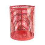 Corbeille à papier Foray Acier + poudre de plastique Rouge 24 x 29 cm