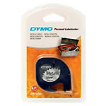 Étiquettes DYMO LetraTag Noir sur Argent 12 mm x 4 m