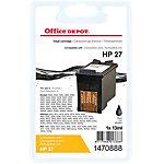 Cartouche jet d'encre Office Depot Compatible HP 27 Noir C8727A