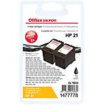 Cartouche jet d'encre Office Depot Compatible HP 21 Noir C9508BN 2