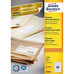 Étiquettes recyclées Avery Blanc 38 x 21,2 mm 100 Feuilles