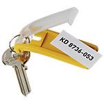 Porte clés DURABLE Key Clip jaune crochets 2.5 x 6.5 cm