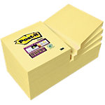 Super Sticky notes Post it Value Pack Jaune 76 x 76 mm 12 x 90 Feuilles