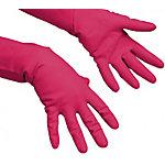 Gants usage général Vileda 100154 Caoutchouc naturel Rouge