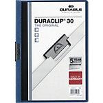 Farde à clip DURABLE Duraclip A4 Bleu foncé Polypropylène Dos :  25