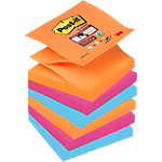 Z notes colorés Post it Super Sticky Assortiment 76 x 76 mm 6 x 90 Feuilles