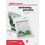 Pochettes de plastification Office Depot A4 2 x 75 (150) µm Transparent Mat