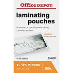 Pochette de plastification Office Depot ID 2 x 125 (250) µm Transparent Brillant