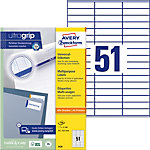 Étiquettes universelles AVERY Zweckform QuickPEEL™ Blanc 70 x 16,9 mm 100 Feuilles
