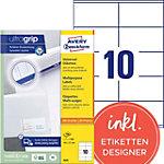 Étiquettes universelles AVERY Zweckform  Blanc 105 x 57 mm 100 Feuilles