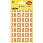 Pastilles autocollantes Avery 3178 Rond Orange intense Ø 8 mm 4 Feuilles