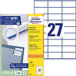 Étiquettes universelles AVERY Zweckform QuickPEEL™ Blanc 70 x 32 mm 100 Feuilles