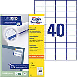 Étiquettes universelles AVERY Zweckform QuickPEEL™ Blanc 52,5 x 29,7 mm 100 Feuilles