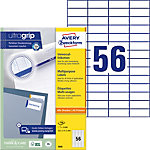 Étiquettes universelles AVERY Zweckform QuickPEEL™ Blanc 52,5 x 21,2 mm 100 Feuilles